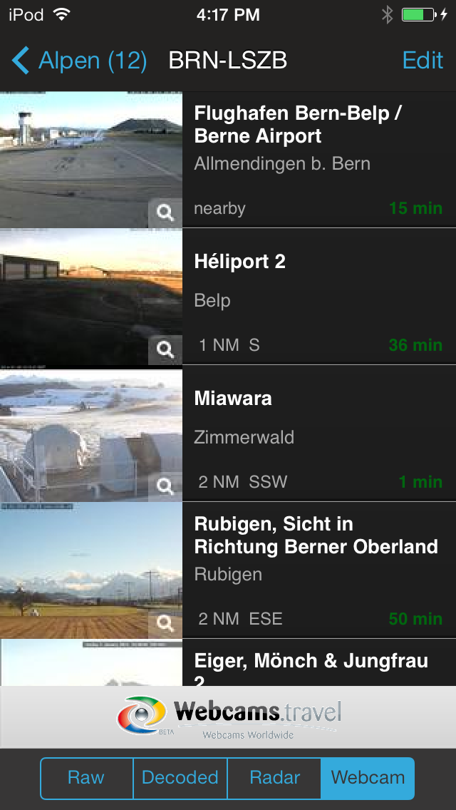 AeroWeather Pro Webcams