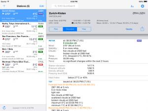 AeroWeather Lite on iPad