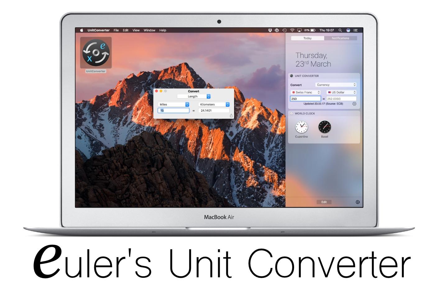Euler's Unit Converter App