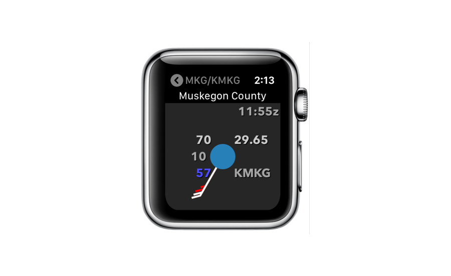 METAR Plot for Apple Watch
